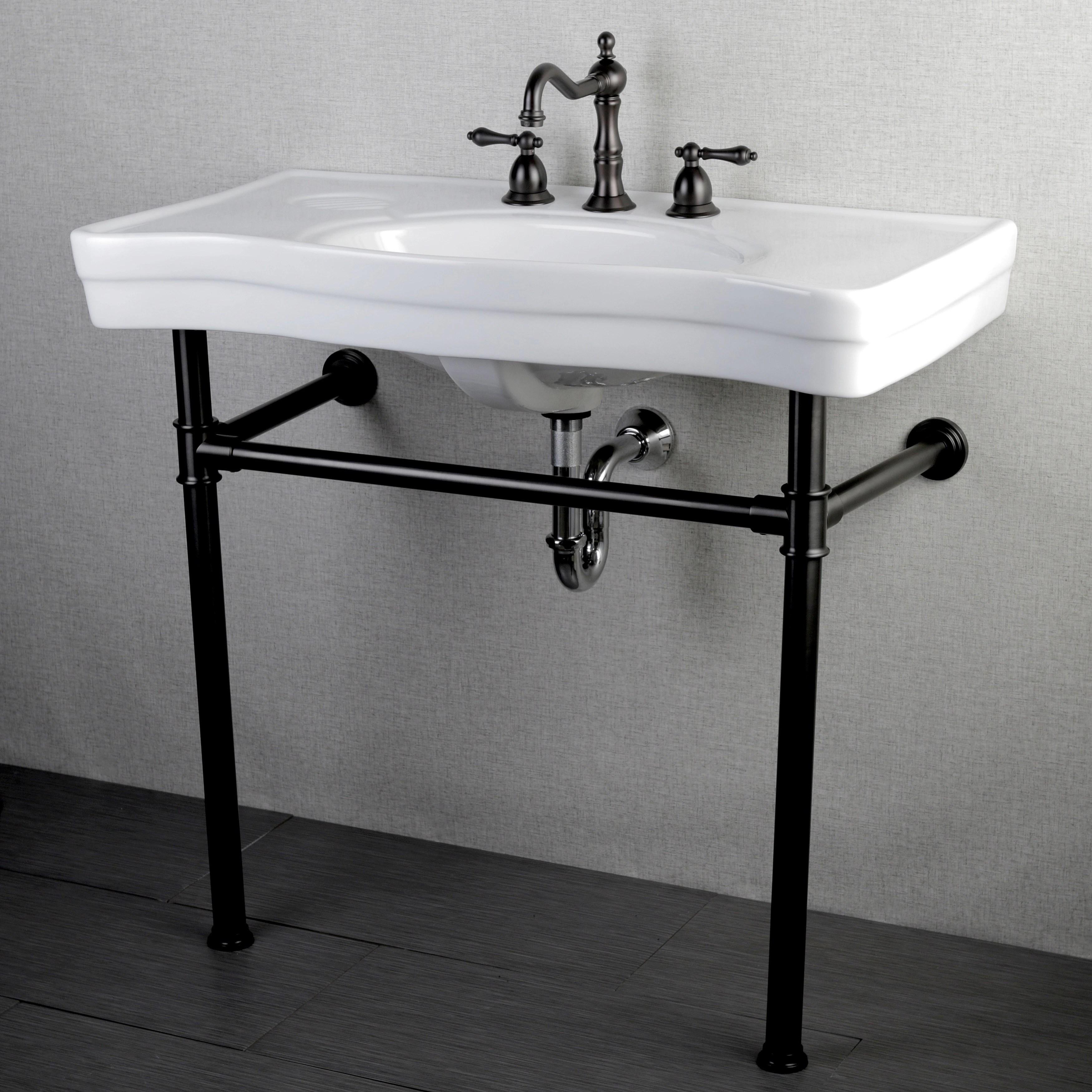 imperial vintage 36 inch oil rubbed bronze pedestal bathroom sink