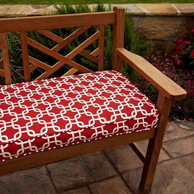 Shop Penelope Red 48 Inch Reversible Outdoor Bench Cushion