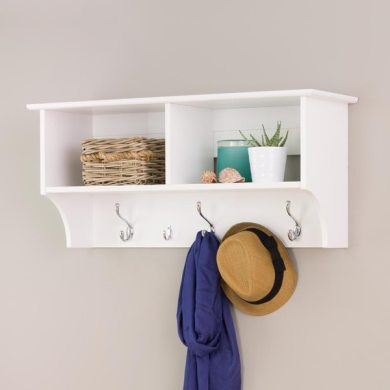 Shop Winslow White 36 inch Wide Hanging Entryway Shelf   Free     Winslow White 36 inch Wide Hanging Entryway Shelf