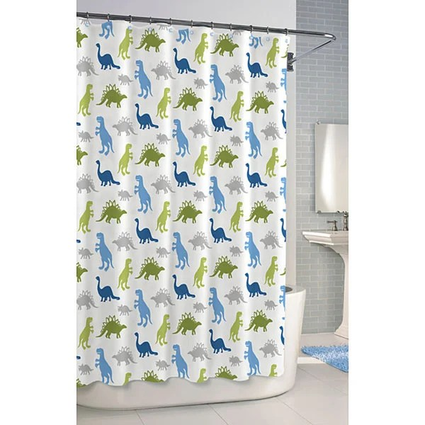 Shop Dinosaur Printed Cotton Shower Curtain Free Shipping On Orders Over 45 Overstock 6783490