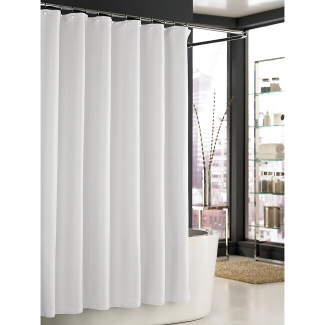 Shop Trump Home Mar A Lago White Spa Waffle Shower Curtain Free Shipping Today Overstock
