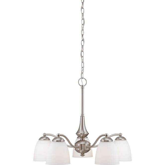 Nuvo Patton 5 Light Brushed Nickel Fluorescent Chandelier