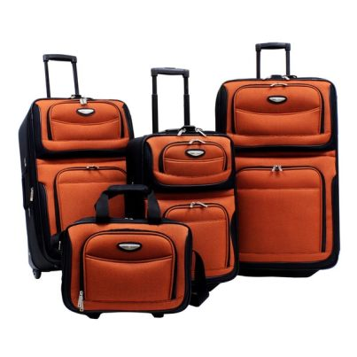 Image result for Traveler's Choice Amsterdam 4-Piece Luggage Set