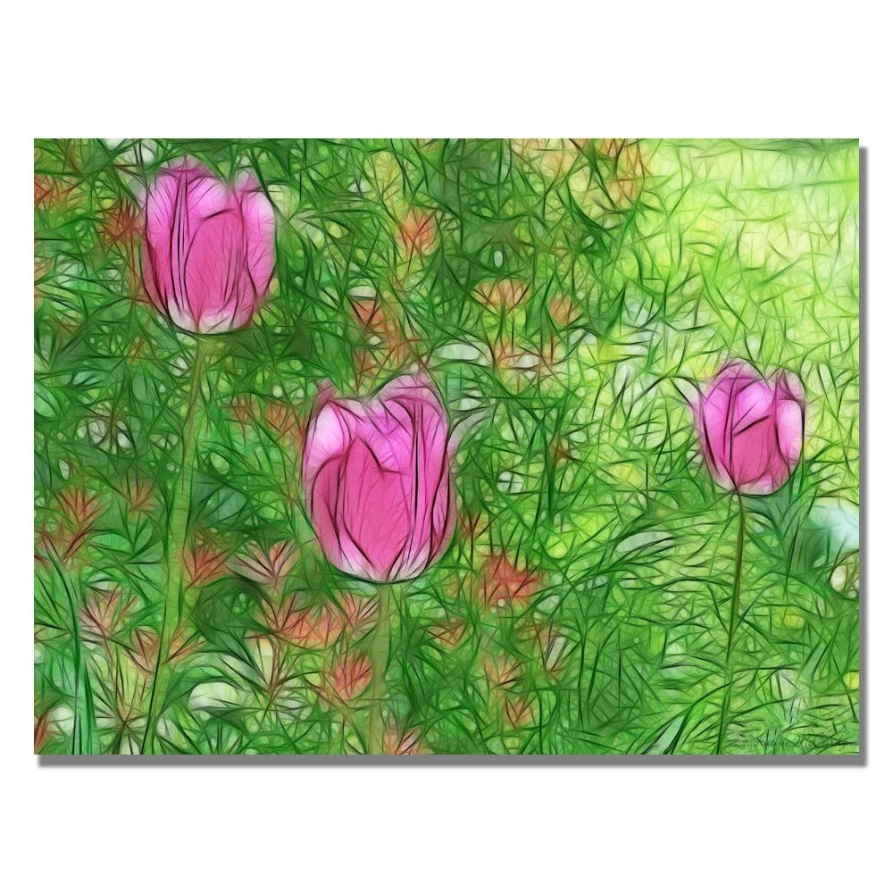 Kathie McCurdy Tulips In The Moonlight Canvas Art Free