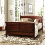 Shop Black Friday Deals On Canterbury Cherry Finish Queen Size Sleigh Bed Overstock 7286851