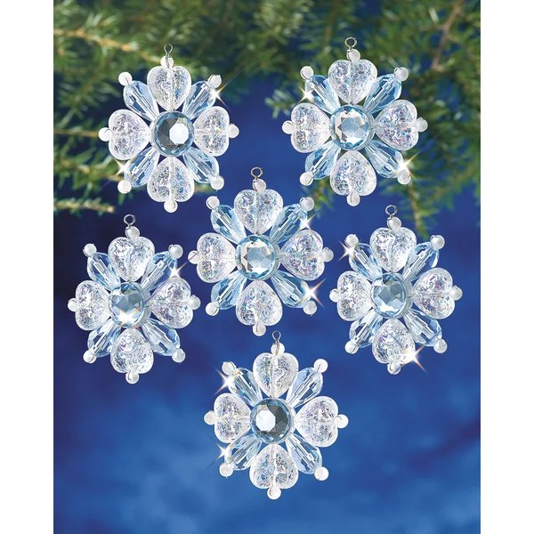 Snowflake Beaded Ornament Kits