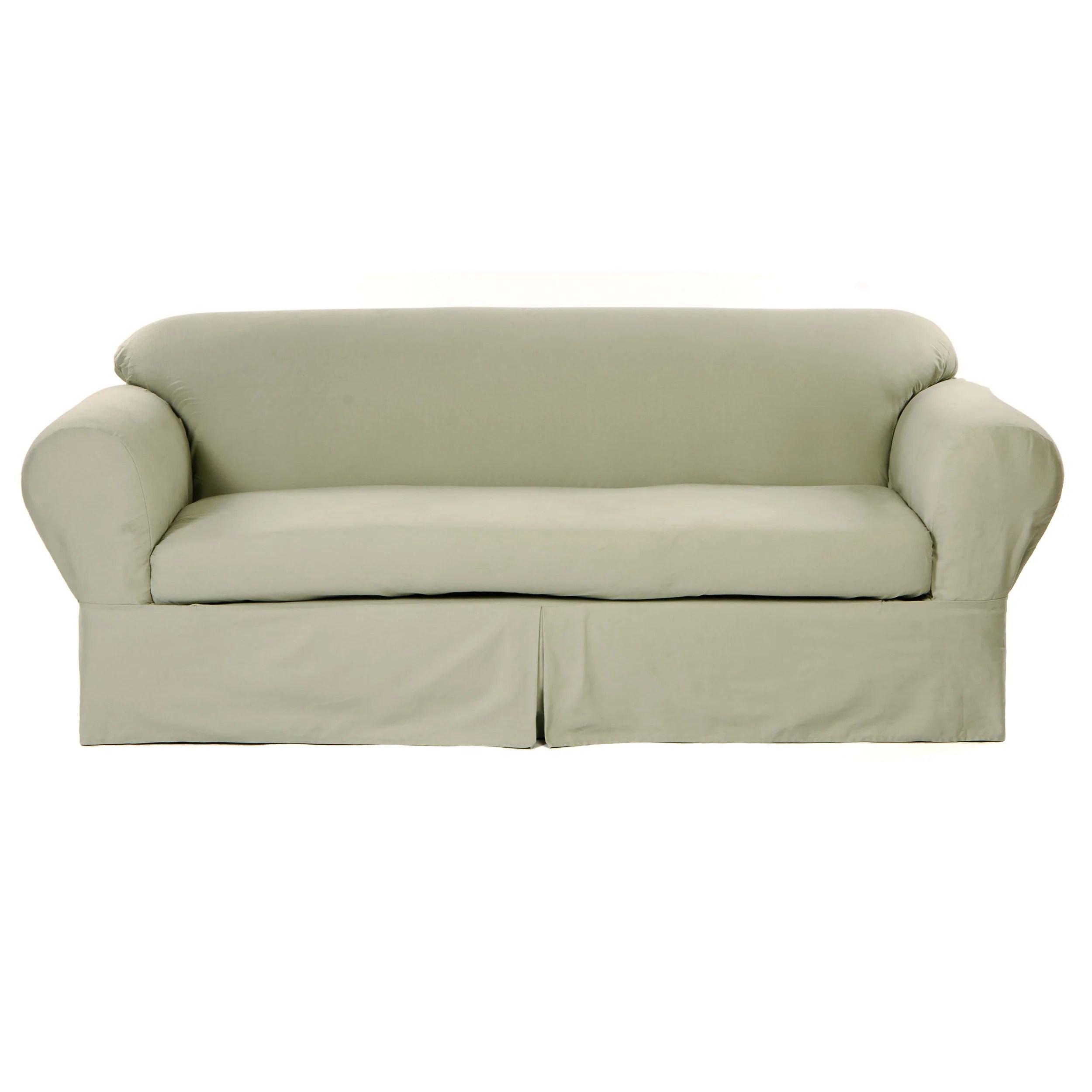 classic slipcovers 2 piece twill sofa slipcover