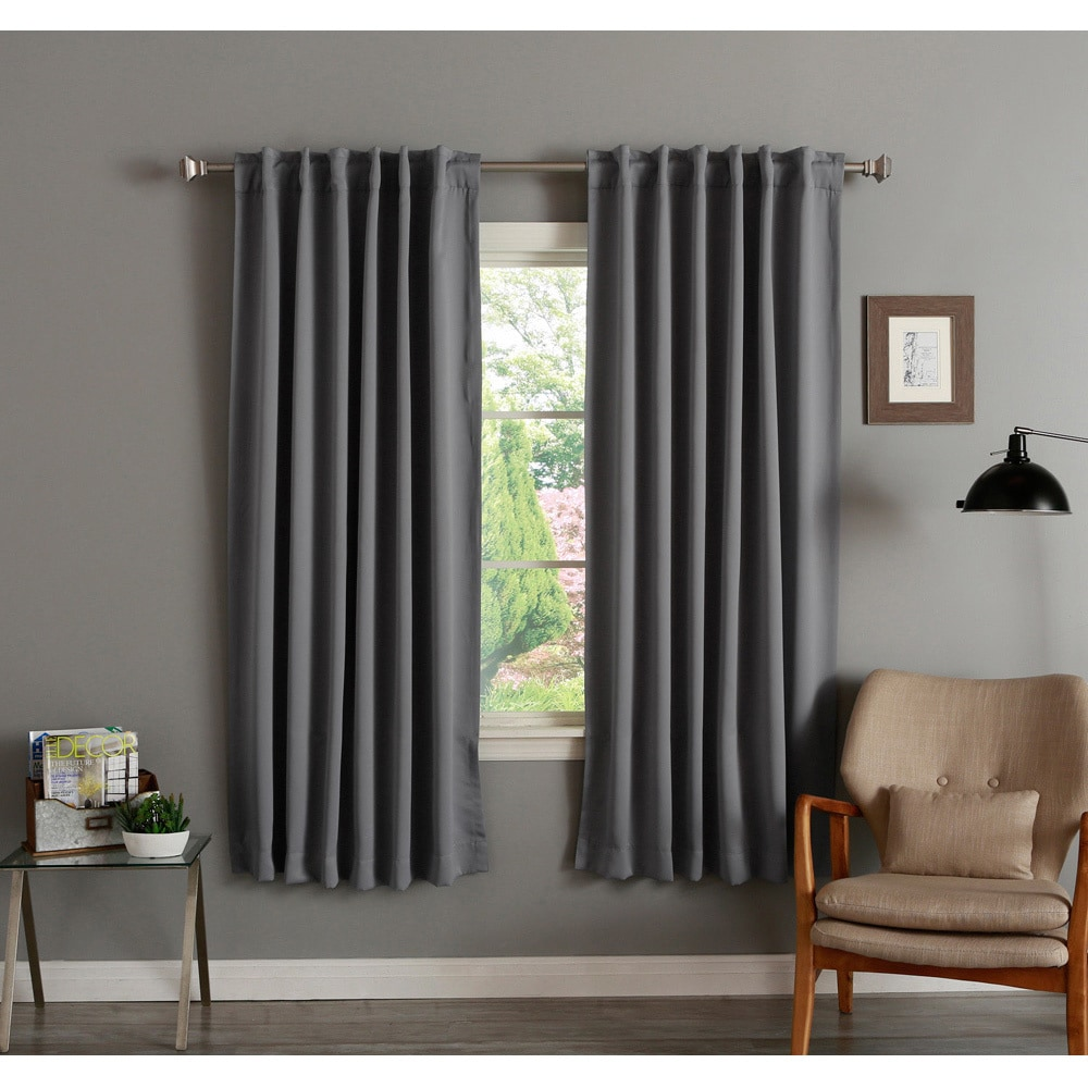 aurora home insulated 72 inch thermal blackout curtain panel pair 52 x 72