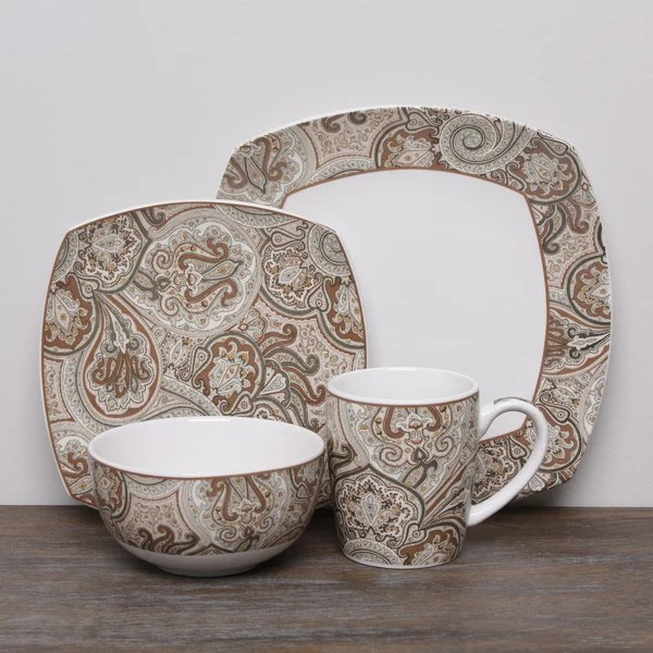 & Blue Paisley Dinnerware Sets