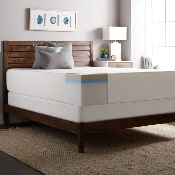 Select Luxury Medium Firm 14 Inch King Size Memory Foam Mattress And Foundation Set