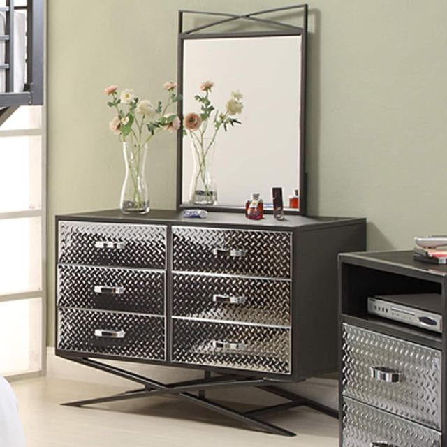 Carter 6 drawer Dresser and Mirror Bedroom Set Free Shipping