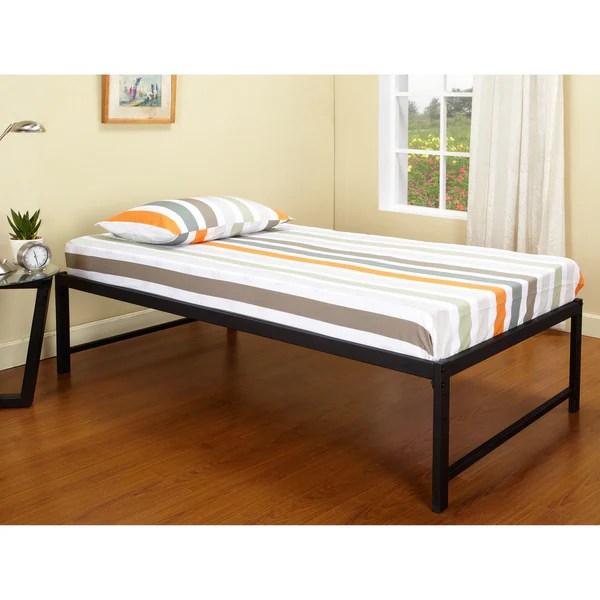 Kb B39 1 2 Hi Riser Bed With Black Metal Frame