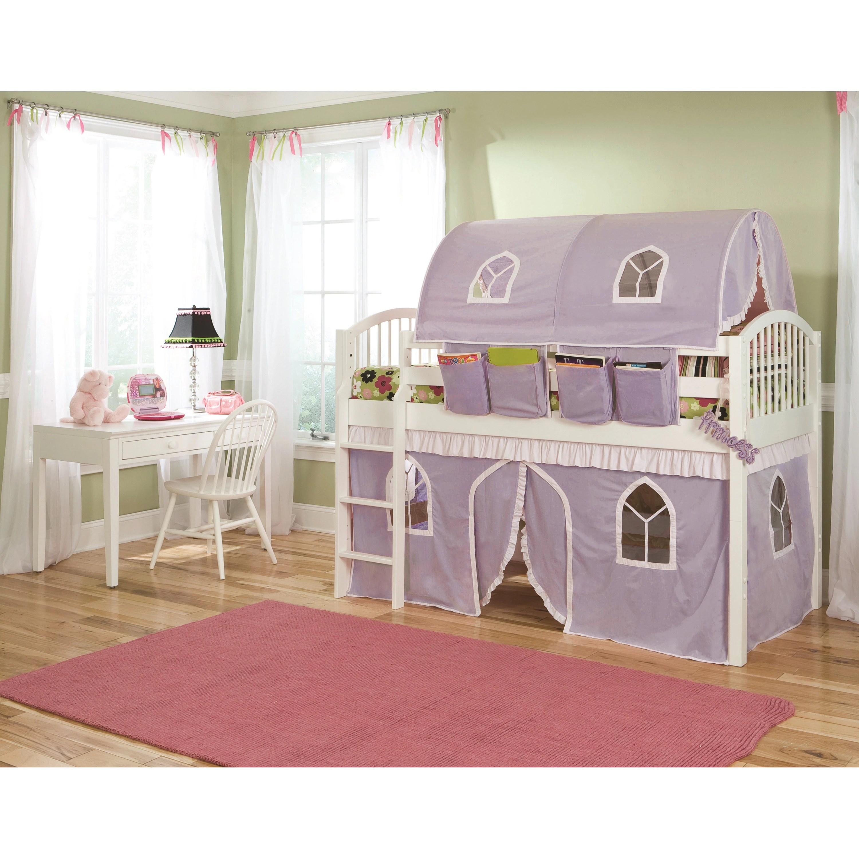 mansfield junior lilac curtain loft bed