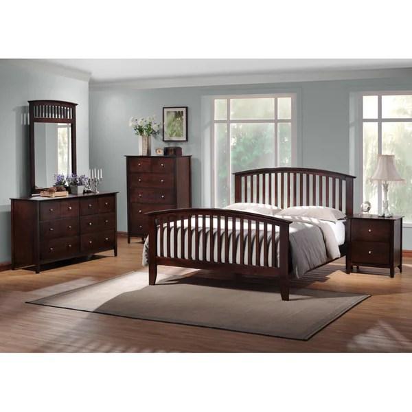 metropolitan king 5 piece wooden modern bedroom set