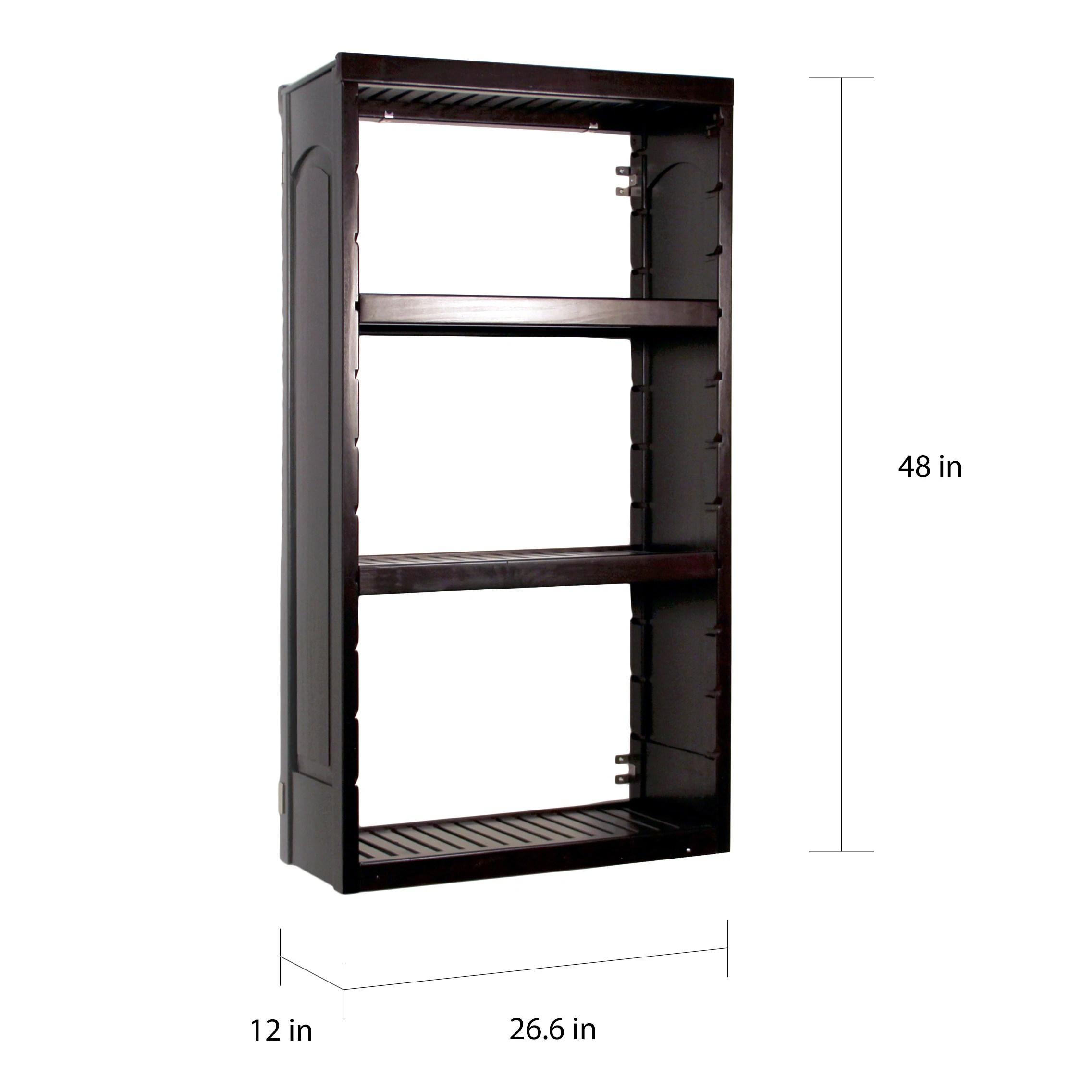 John Louis Woodcrest Espresso Finish 12 Inch Deep Stand Alone Tower Kit