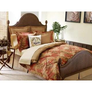Tommy Bahama Orange Cay 4 Piece Comforter Set Free