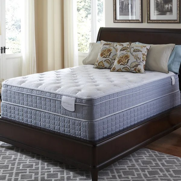 Free White Glove Delivery Serta Perfect Sleeper Luminous Euro Top Queen Mattress And Foundation Set
