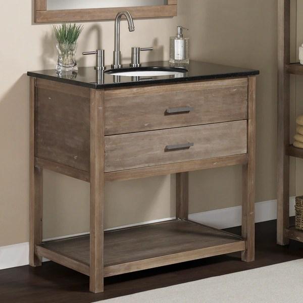 Shop Elements 36 Inch Granite Top Single Sink Bathroom