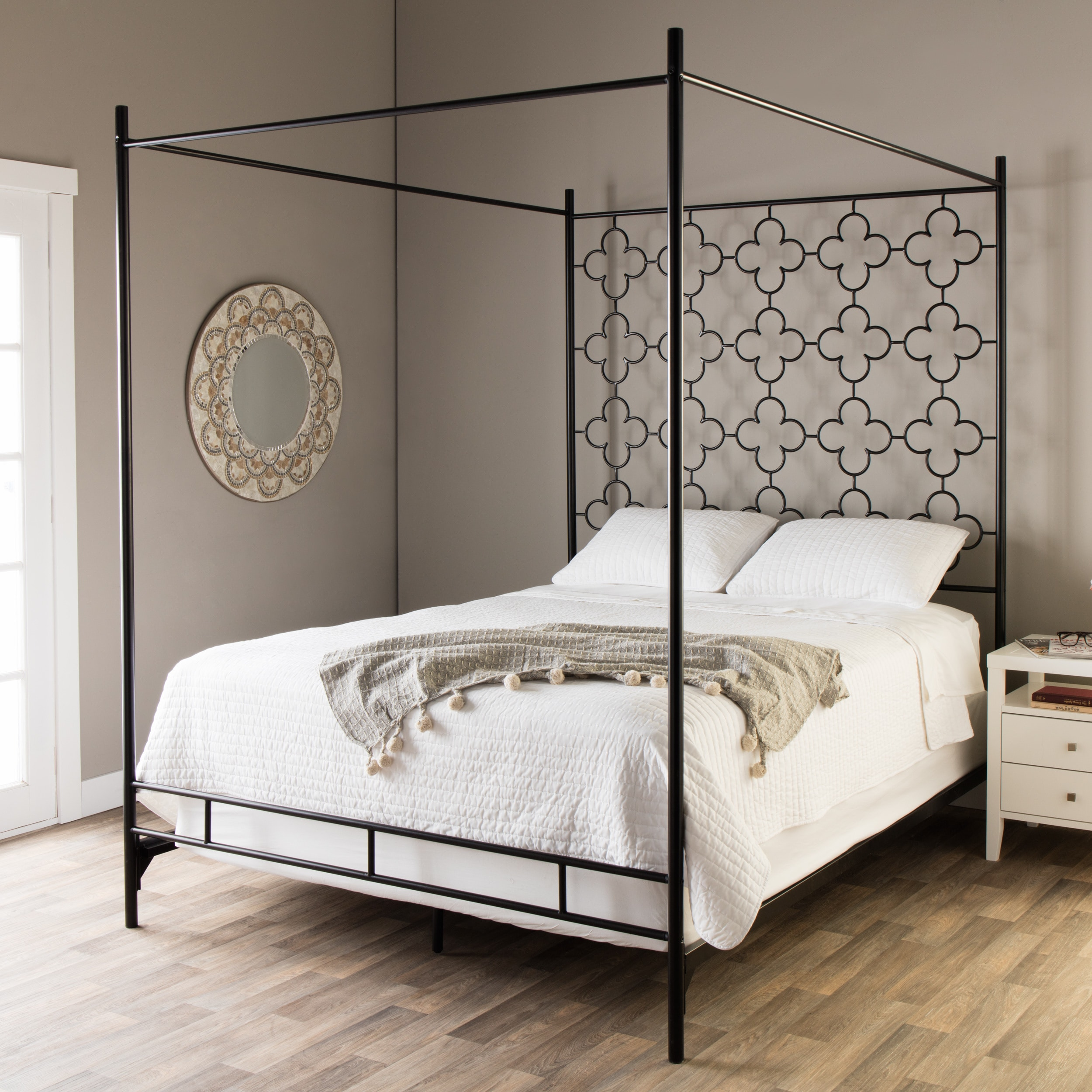 Shop Quatrefoil King Canopy Bed