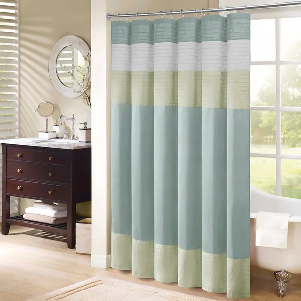 Madison Park Chester Pieced Faux Silk Shower Curtain Free Shipping On Orders Over 45