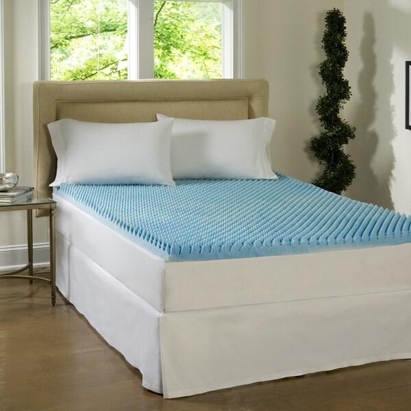 Comforpedic Loft From Beautyrest 3 Inch Sculpted Gel Memory Foam Mattress Topper Free Shipping Today 15459525