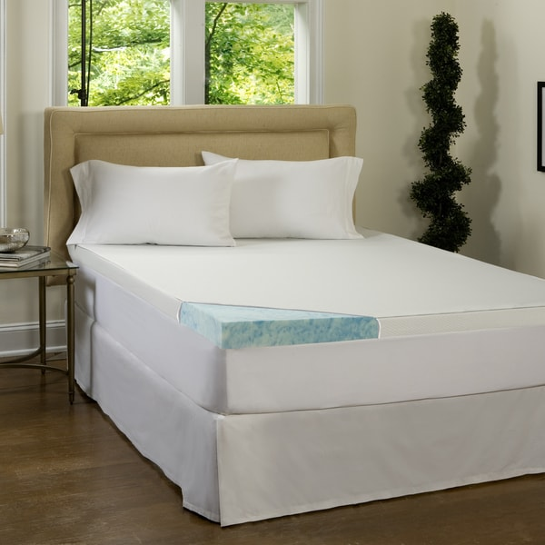 Comforpedic Loft From Beautyrest 3 Inch Gel Memory Foam Mattress Topper With Water Resistant Cover