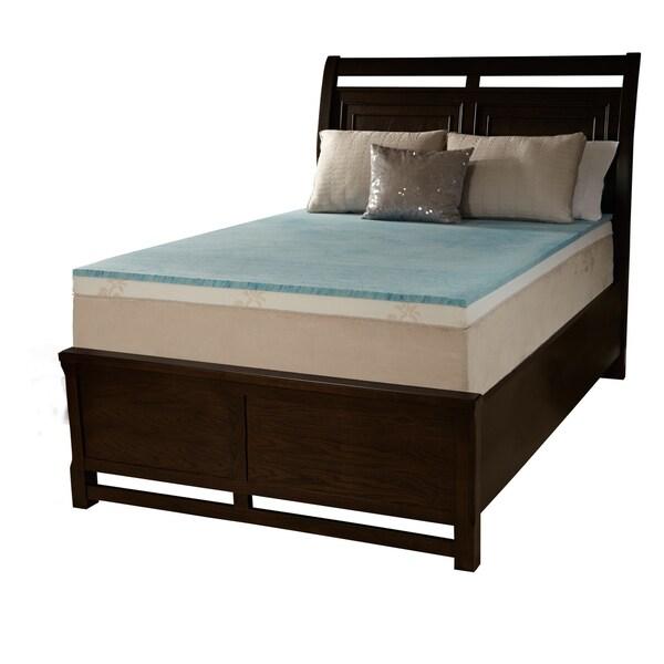 Comforpedic Loft From Beautyrest 2 Inch Flat Gel Memory Foam Mattress Topper Free Shipping Today 15466367