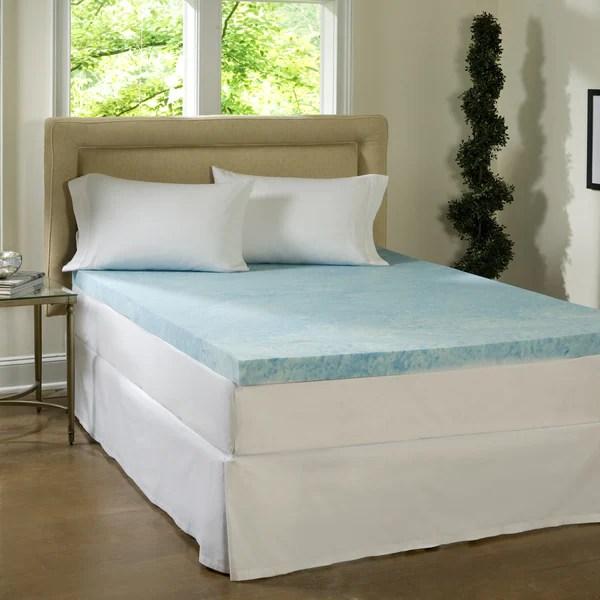 Comforpedic Loft From Beautyrest 2 Inch Flat Gel Memory Foam Mattress Topper