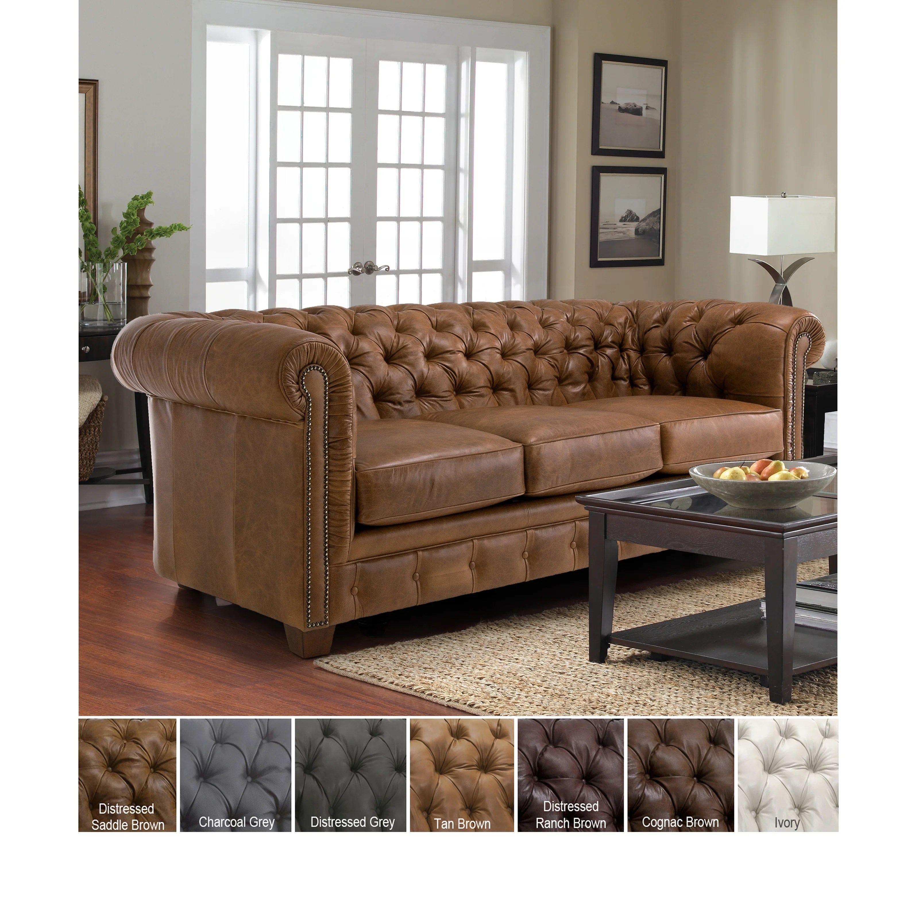 Buy Leather Sofas Couches Online At Overstock Our Best