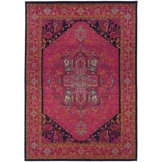 Updated Traditional Pink Blue Rug 53 X 76 Free