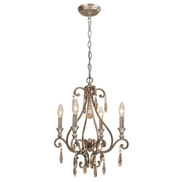 Crystorama Shelby Collection 4 Light Distressed Twilight Mini Chandelier