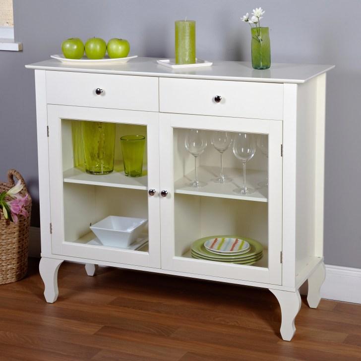 Antique White Buffet Dining Room Furniture Cabinet Kitchen Organizer