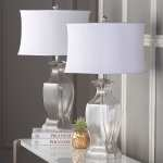 Safavieh Lighting Collection Wendy Glass Clear Table Lamp Set Of 2 For Sale Online Ebay