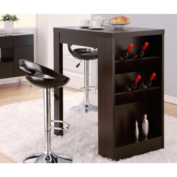 Multi Storage Bar Table Dining Furniture Room Pub Wine Kitchen