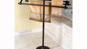 Shop Oil Rubbed Bronze Pedestal Bath Towel Rack Free
