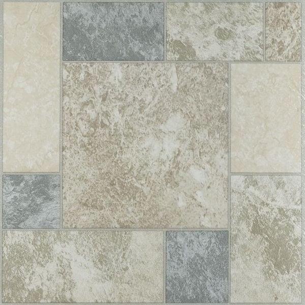 achim nexus marble blocks 12x12 self adhesive vinyl floor tile 20 tiles 20 sq ft