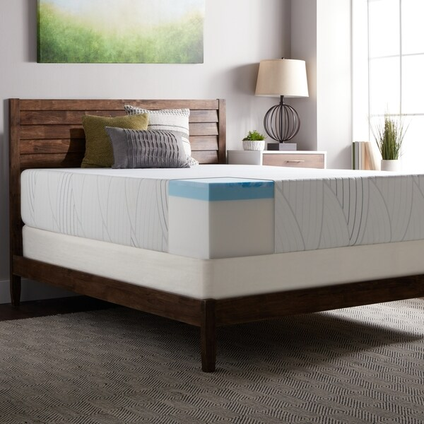 Select Luxury 14 Inch Queen Size Medium Firm Gel Memory Foam Mattress And Foundation Set