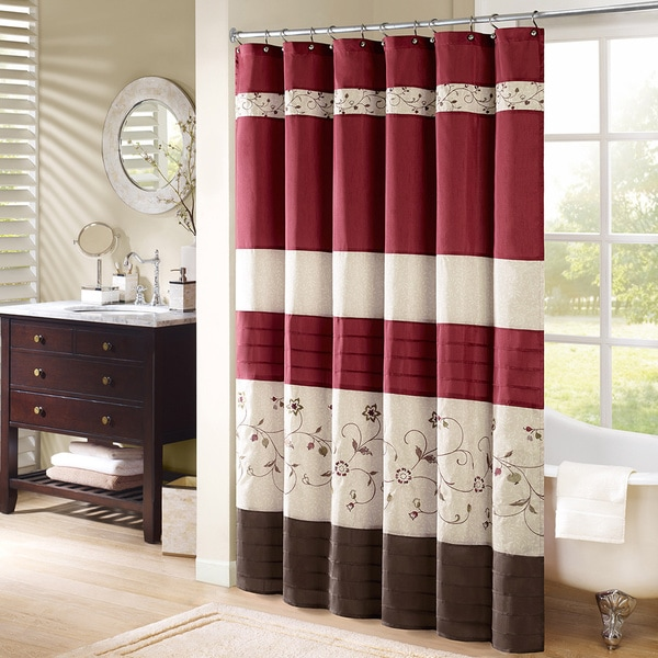 Madison Park Belle Embroidered Shower Curtain Free