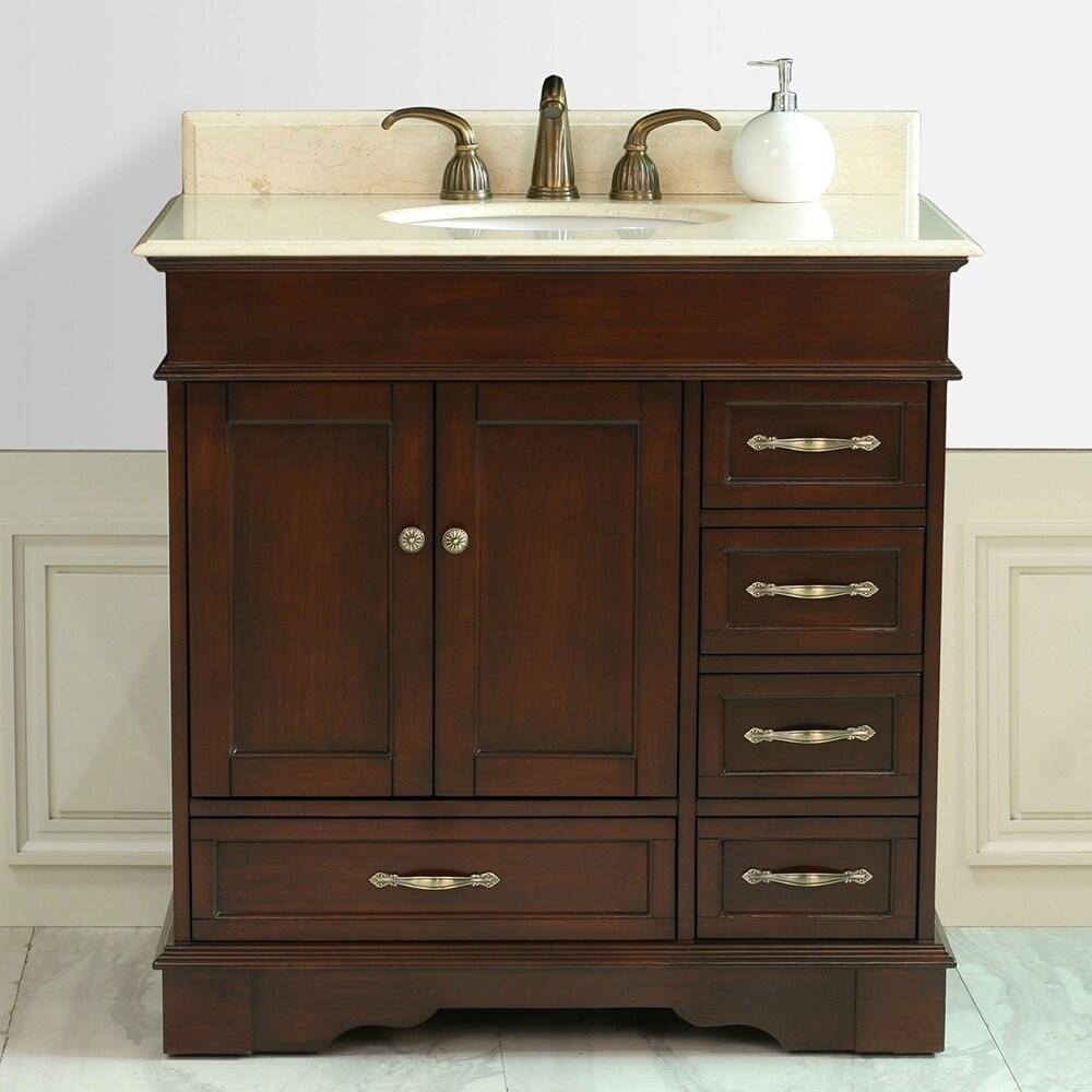virtu usa oxford 36 inch single sink right side bathroom vanity