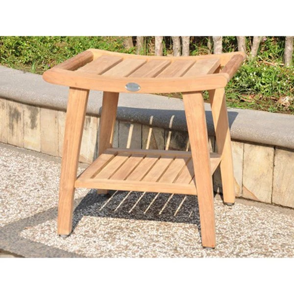 Cl Ic Teak Shower Bench
