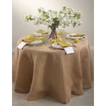 Round Burlap Tablecloth On Sale Overstock 8701514