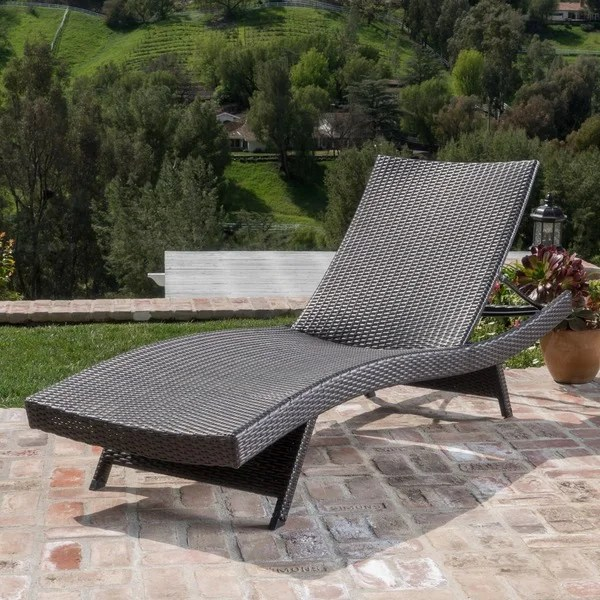 Toscana Outdoor Wicker Lounge By Christopher Knight Home Free Shipping Today Overstock Com