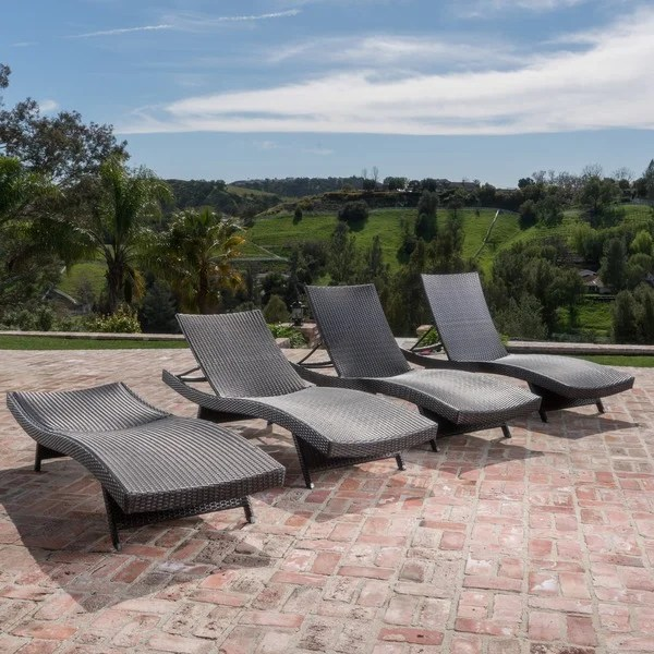 Toscana Outdoor Brown Wicker Lounge By Christopher Knight Home Set Of