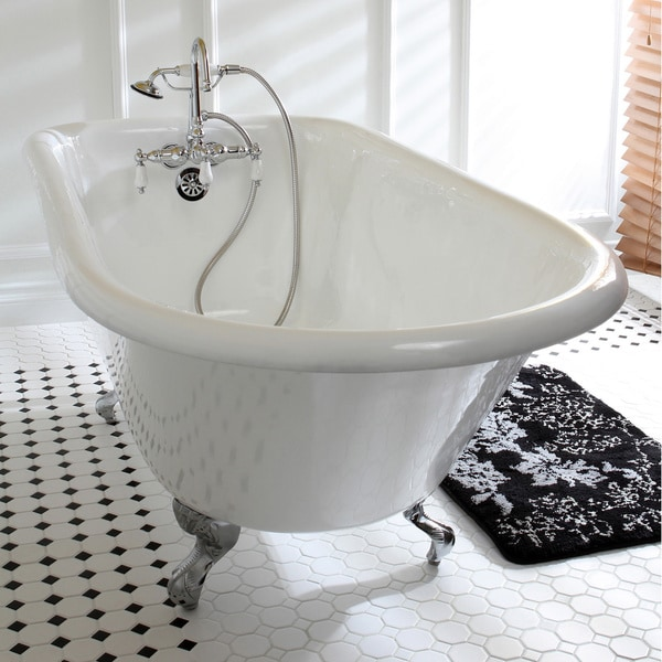 Shop Classic Roll Top 60 Inch Cast Iron Clawfoot Tub With