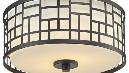 Shop Black Friday Deals On Avery Home Lighting Elea 2 Light Bronze Ceiling Flush Mount With Matte Opal Glass Overstock 8973106
