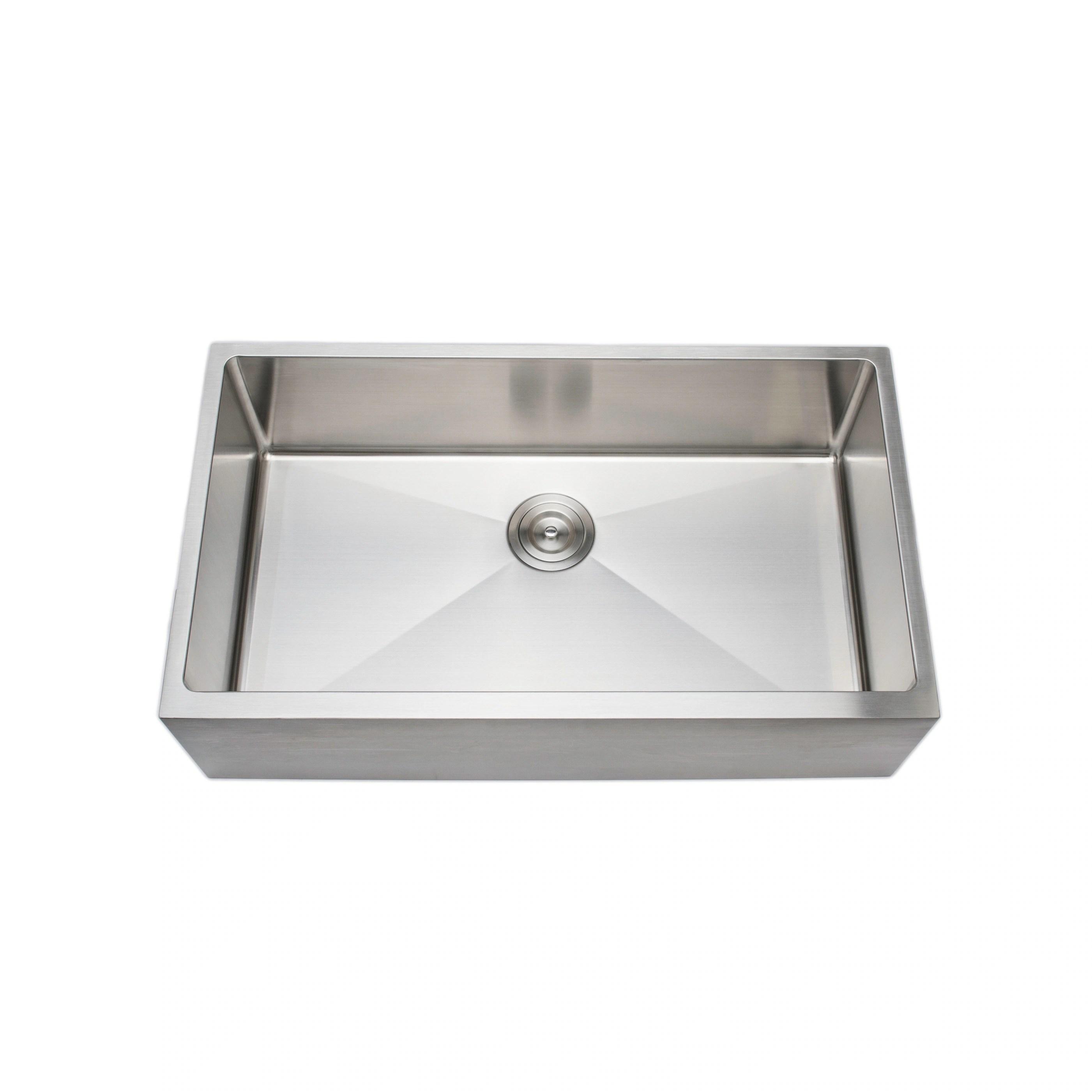 Bathroom Sinks 16 Gauge Undermount Apron Front Farmhouse Stainless Steel Kitchen Sink Stuudio35 Ee