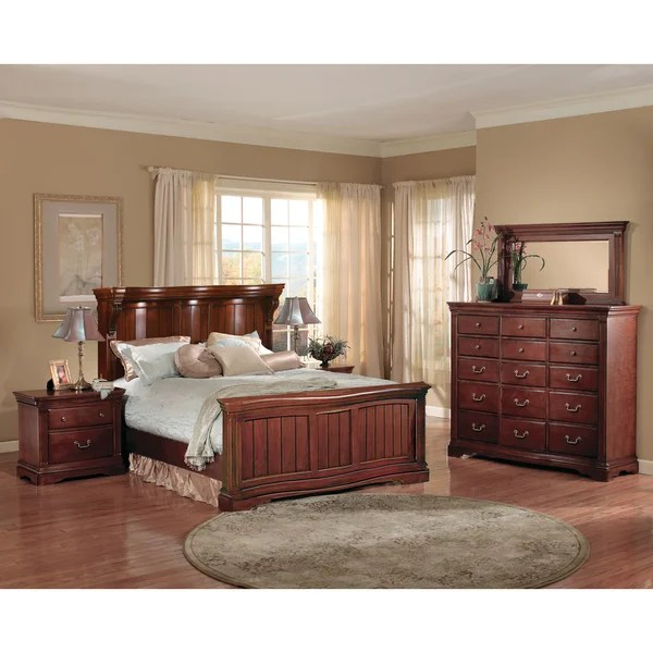 glenwood serpentine collection 5-piece bedroom set - free shipping