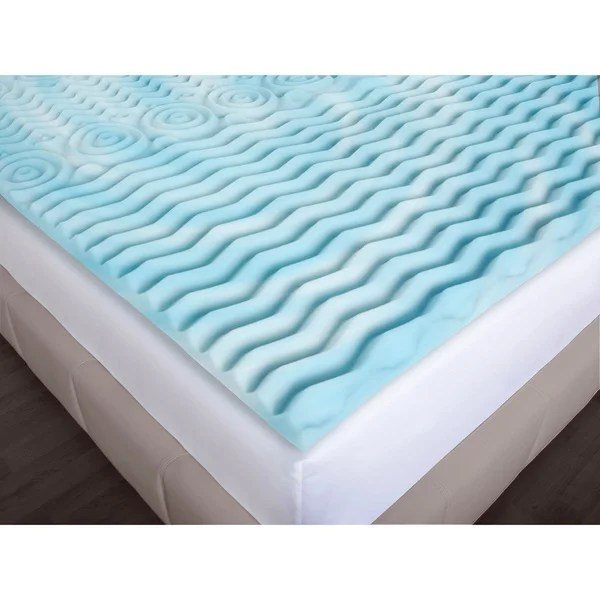 Authentic Comfort 3 Inch Rx 5 Zone Foam Mattress Topper Free Shipping Today 16324717
