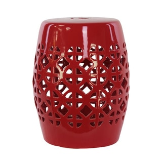 Shop Urban Trends Collection Red Ceramic Garden Stool Free Shipping Today Overstock 9167255