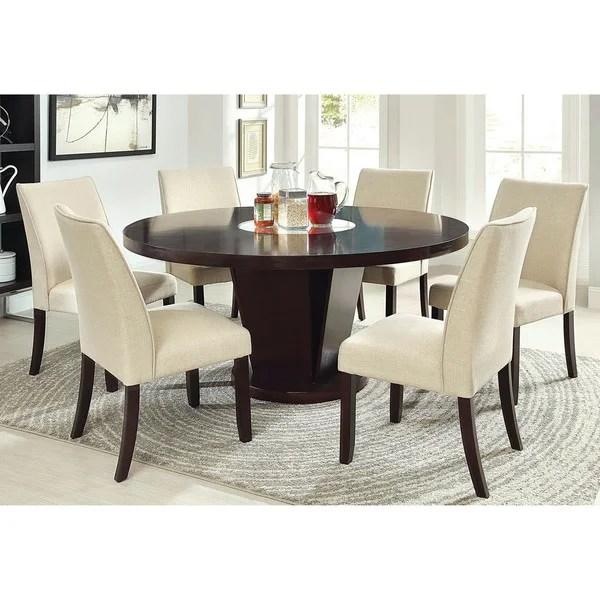 Shop Furniture Of America Lolitia 7 Piece Espresso Round